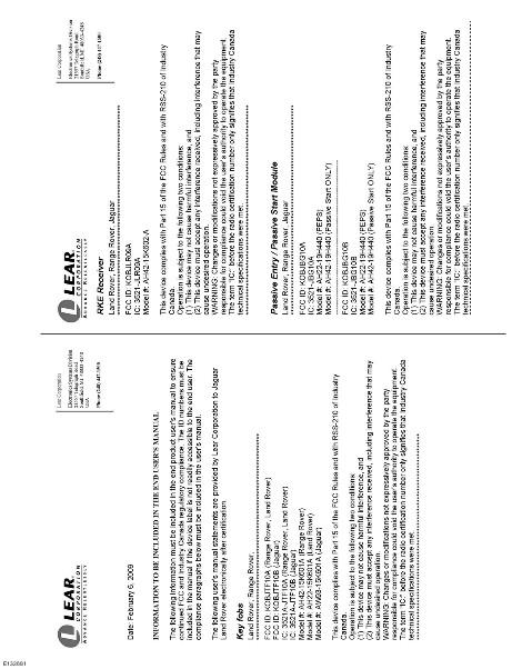 Jaguar Owner Information